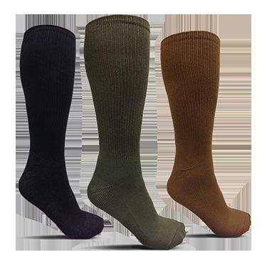 USOA Antimicrobial Boot Socks - 3 Pair