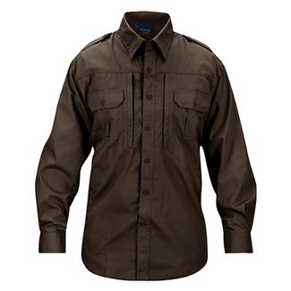 Propper Lightweight Long Sleeve Tactical Dress Shirts Sheriff's Brown