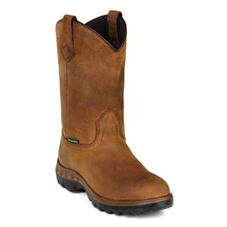 "John Deere 11"" WCT Leather Wellington WP Tan"