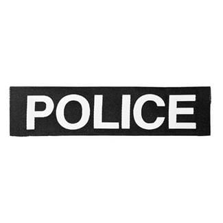 Elite Survival Systems Police Patch White on Black