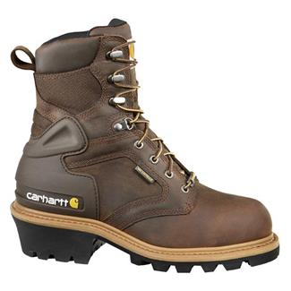 "Carhartt 8"" Logger 400G ST WP Crazy Horse Brown"