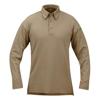 Propper Long Sleeve ICE Performance Polos Silver Tan