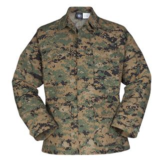 Propper Uniform Poly / Cotton Ripstop BDU Coats Digital Woodland