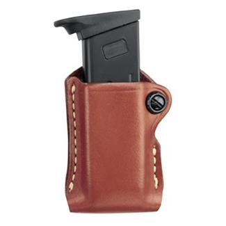 Gould & Goodrich Gold Line Paddle Style Single Mag Case Chestnut Brown