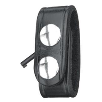 Gould & Goodrich Leather Hidden Cuff Key Belt Keeper Plain Black