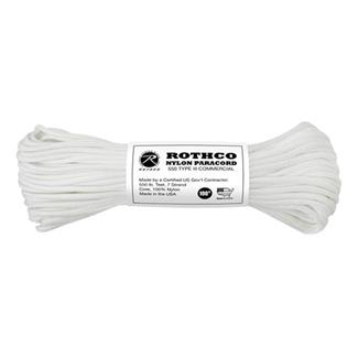 Rothco Nylon 550 LB Type III Commercial Paracord - 100ft White