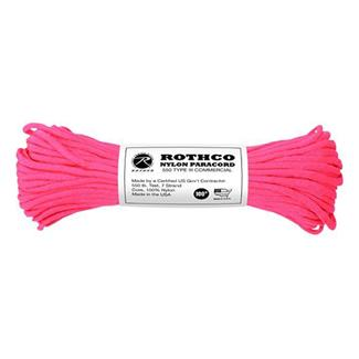 Rothco Nylon 550 LB Type III Commercial Paracord - 100ft Neon Pink