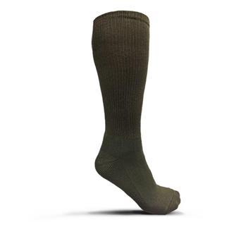 USOA Antimicrobial Boot Socks - 3 Pair Green (3-pack)