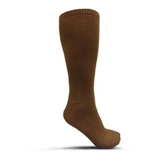 USOA Antimicrobial Boot Socks - 3 Pair Brown (3-pack)