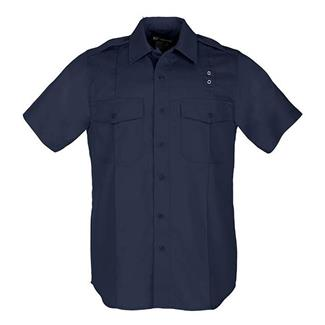 5.11 Short Sleeve Twill PDU Class A Shirts Midnight Navy