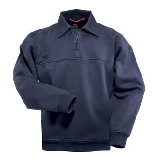 5.11 Job Shirts with Canvas Details Fire Navy