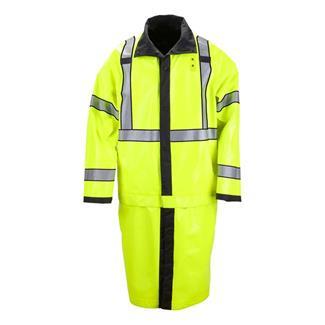 5.11 Long Reversible High Vis Rain Coats Black / Hi-Vis Yellow