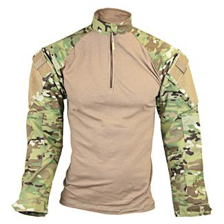 TRU-SPEC Nylon / Cotton 1/4 Zip Tactical Response Combat Shirt MultiCam / Coyote