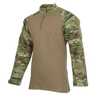 TRU-SPEC Poly / Cotton 1/4 Zip Tactical Response Combat Shirt MultiCam / Coyote