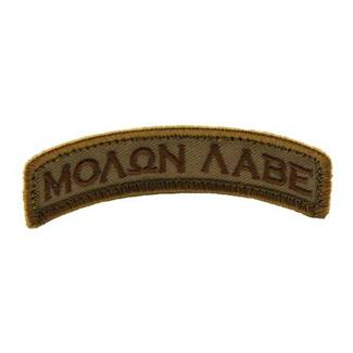 Mil-Spec Monkey Molon Labe Tab Patch Desert