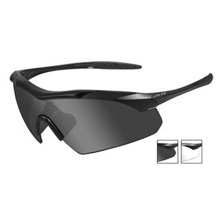 Wiley X Vapor Matte Black (frame) - Smoke Gray / Clear (2 Lenses)