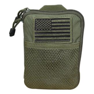 Condor Pocket Pouch with US Flag Patch Olive Drab