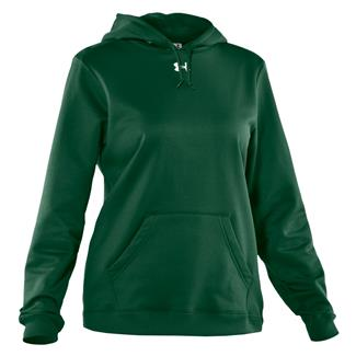 Under Armour Fleece Team Hoodie Forest Green / White
