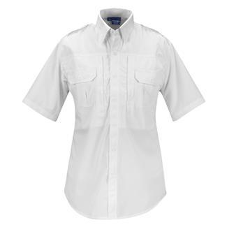 Propper Lightweight Short Sleeve Tactical Dress Shirts Poplin White