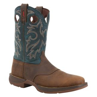 Durango Rebel Square Toe Tan / Navy