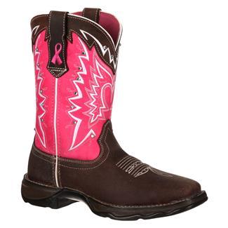 Durango Lady Rebel Pink Ribbon Dark Brown / Pink