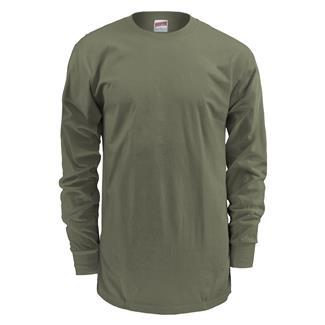 Soffe Basic Crew Neck Long Sleeve T-Shirt Olive Drab
