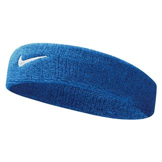 NIKE Swoosh Headband Royal Blue / White