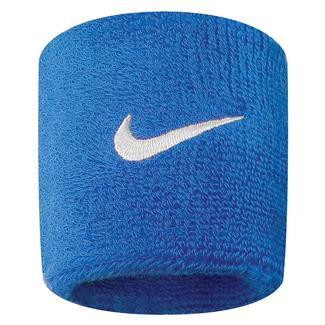 NIKE Swoosh Wristband (2 pack) Royal Blue / White