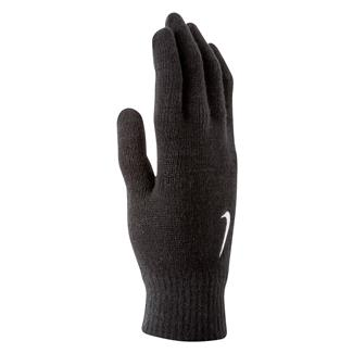 NIKE Swoosh Knit Gloves Black / White