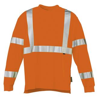 Wolverine Caution Long Sleeve T-Shirt Hi Vis Orange