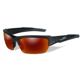Wiley X Valor Black 2 Tone (frame) - Polarized Crimson Mirror (Gray) (1 Lens)