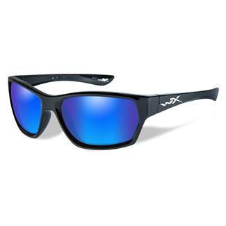 Wiley X Moxy Gloss Black (frame) - Polarized Blue Mirror (Green) (lens)
