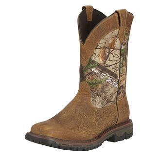 """Ariat 11"""" Conquest Pull-On WP Brush Brown / Realtree Xtra"""