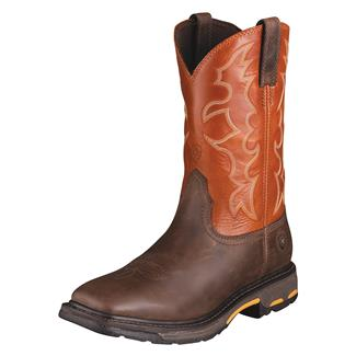 "Ariat 11"" Workhog Wide Square Toe Dark Earth / Brick"