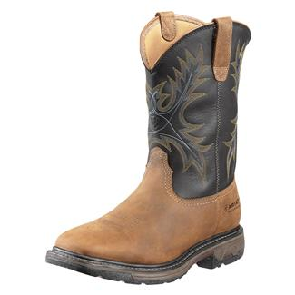 "Ariat 11"" Workhog Wide Square Toe ST WP Aged Bark / Black"