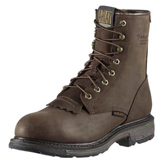 """Ariat 8"""" Workhog CT WP Oily Distressed Brown"""