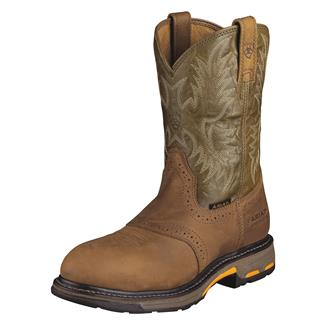 "Ariat 10"" Workhog Pull-On CT Aged Bark / Army Green"