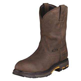 "Ariat 10"" Workhog Pull-On CT WP Oily Distressed Brown"