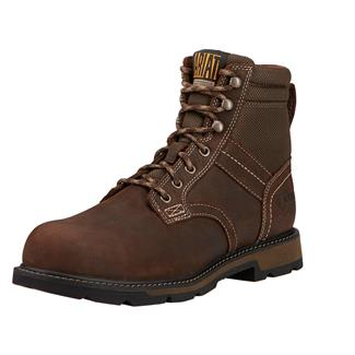 "Ariat 6"" Groundbreaker ST WP Dark Brown / Dark Olive"