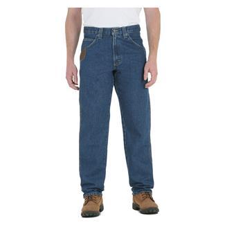 Wrangler Riggs Relaxed Fit Denim Five Pocket Jeans Antique Indigo