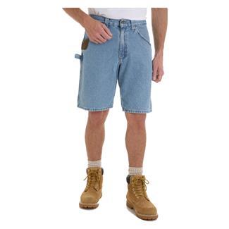 "Wrangler Riggs 10.5"" Relaxed Fit Denim Carpenter Shorts Vintage Indigo"