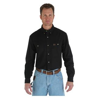 Wrangler Riggs Relaxed Fit Twill Work Shirt Black