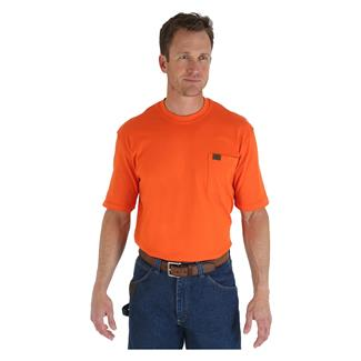 Wrangler Riggs Pocket T-Shirt Safety Orange