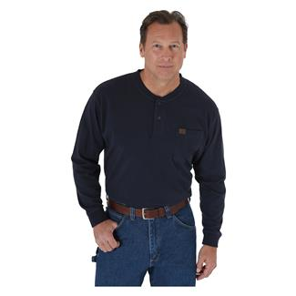 Wrangler Riggs Long Sleeve Pocket Henley Navy
