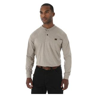 Wrangler Riggs Long Sleeve Pocket Henley Oatmeal