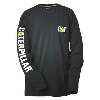 CAT Long Sleeve Trademark Banner T-Shirt Black