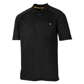 CAT Raglan Performance Pocket Polo Black