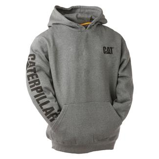 CAT Trademark Banner Hoodie Dark Heather Gray