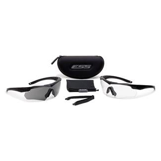 ESS Eye Pro Crossbow Black (frame) - Clear / Smoke Gray (2 lenses)