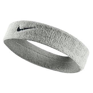 NIKE Swoosh Headband Matte Silver / Black
